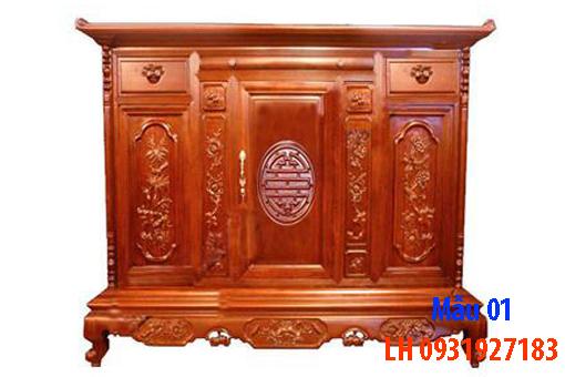 Đóng tủ thờ tại Đà Nẵng, nhận đóng tủ thờ theo yêu cầu. 1