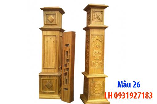 Đóng cầu thang gỗ tại Đà Nẵng, thi công tay vị mặt bậc cầu thang gỗ 26