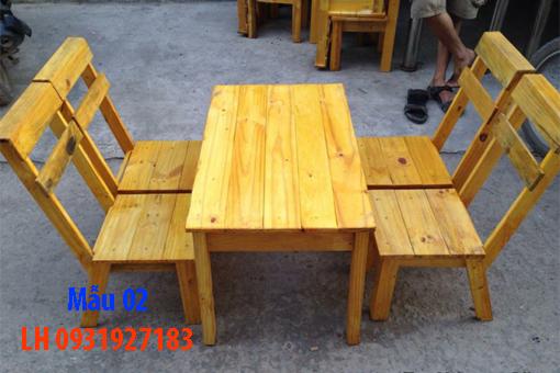 Bàn ghế quán cà phê tại Đà Nẵng, báo giá bàn ghế cà phê 2