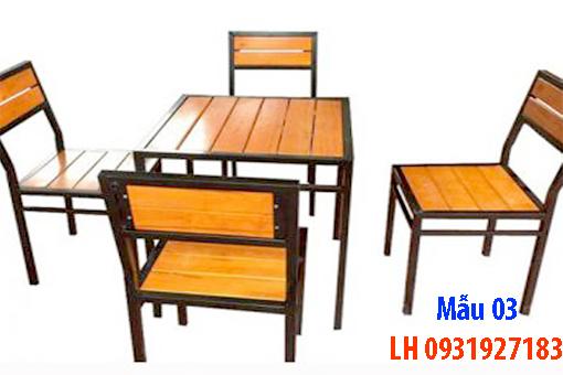 Bàn ghế quán cà phê tại Đà Nẵng, báo giá bàn ghế cà phê 3