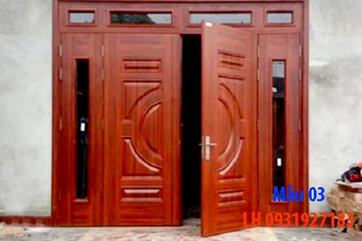 Đóng cửa gỗ tại Đà Nẵng, báo giá thi công cửa gỗ tự nhiên 3
