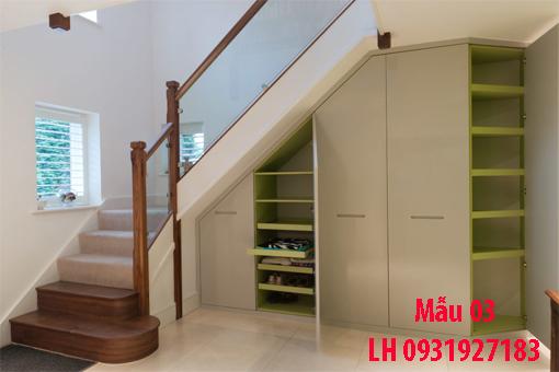 Đóng tủ cầu thang tại Đà Nẵng, thi công tủ gầm cầu thang giá rẻ 3