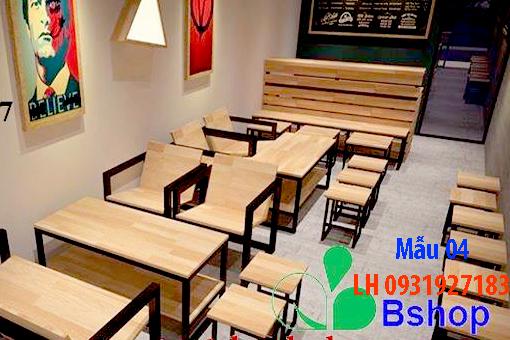 Bàn ghế quán cà phê tại Đà Nẵng, báo giá bàn ghế cà phê