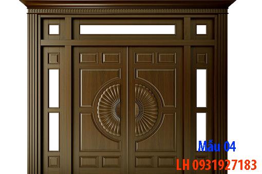 Đóng cửa gỗ tại Đà Nẵng, báo giá thi công cửa gỗ tự nhiên 4