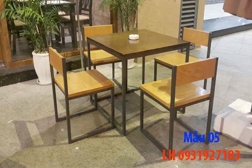 Bàn ghế quán cà phê tại Đà Nẵng, báo giá bàn ghế cà phê 5