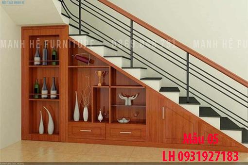 Đóng tủ cầu thang tại Đà Nẵng, thi công tủ gầm cầu thang giá rẻ 5