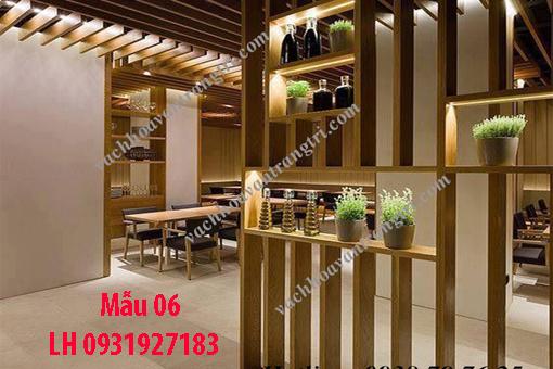 Lam gỗ trang trí tại Đà Nẵng, thi công lam gỗ tự nhiên, lam gỗ công nghiệp 6