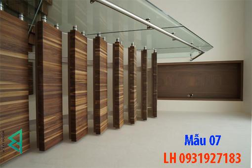 Đóng cầu thang gỗ tại Đà Nẵng, thi công tay vị mặt bậc cầu thang gỗ 7