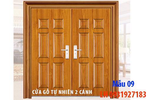 Đóng cửa gỗ tại Đà Nẵng, báo giá thi công cửa gỗ tự nhiên 9
