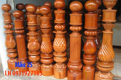 Đóng cầu thang gỗ tại Đà Nẵng, thi công tay vị mặt bậc cầu thang gỗ 25