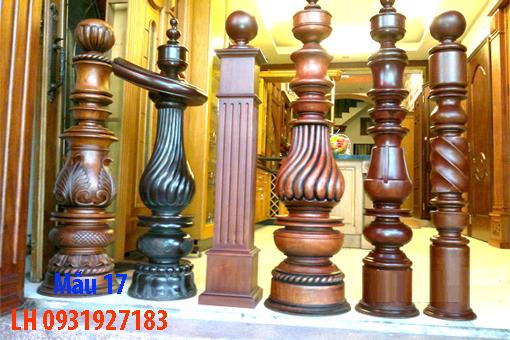 Đóng cầu thang gỗ tại Đà Nẵng, thi công tay vị mặt bậc cầu thang gỗ 17