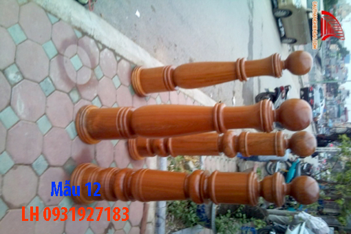 Đóng cầu thang gỗ tại Đà Nẵng, thi công tay vị mặt bậc cầu thang gỗ 12