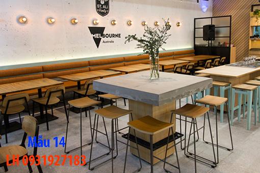Bàn ghế quán cà phê tại Đà Nẵng, báo giá bàn ghế cà phê 14