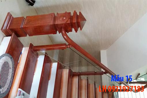 Đóng cầu thang gỗ tại Đà Nẵng, thi công tay vị mặt bậc cầu thang gỗ 15