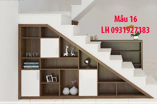 Đóng tủ cầu thang tại Đà Nẵng, thi công tủ gầm cầu thang giá rẻ 16
