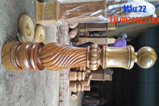 Đóng cầu thang gỗ tại Đà Nẵng, thi công tay vị mặt bậc cầu thang gỗ 22