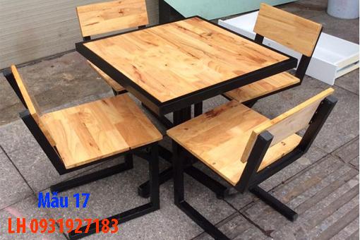Bàn ghế quán cà phê tại Đà Nẵng, báo giá bàn ghế cà phê 17