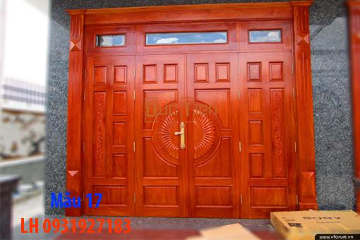 Đóng cửa gỗ tại Đà Nẵng, báo giá thi công cửa gỗ tự nhiên 17