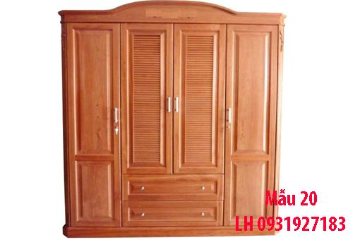 Đóng tủ gỗ tự nhiên tại Đà Nẵng, báo giá thi công tủ gỗ