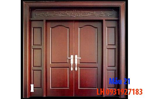 Đóng cửa gỗ tại Đà Nẵng, báo giá thi công cửa gỗ tự nhiên 21