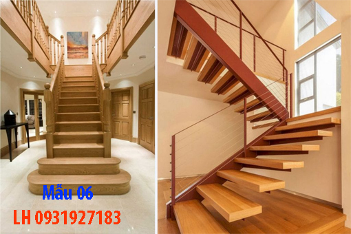 Đóng cầu thang gỗ tại Đà Nẵng, thi công tay vị mặt bậc cầu thang gỗ 6