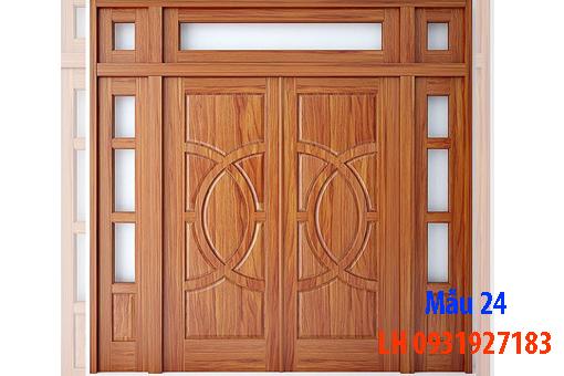 Đóng cửa gỗ tại Đà Nẵng, báo giá thi công cửa gỗ tự nhiên 24