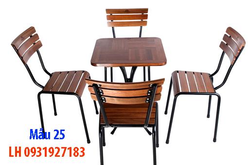 Bàn ghế quán cà phê tại Đà Nẵng, báo giá bàn ghế cà phê 25