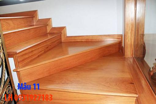Đóng cầu thang gỗ tại Đà Nẵng, thi công tay vị mặt bậc cầu thang gỗ 11