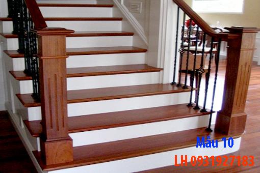 Đóng cầu thang gỗ tại Đà Nẵng, thi công tay vị mặt bậc cầu thang gỗ 10