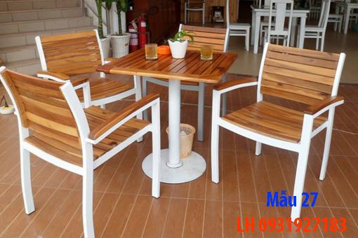 Bàn ghế quán cà phê tại Đà Nẵng, báo giá bàn ghế cà phê 27
